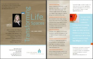 Brochure for Heather Wood, interior redesigner